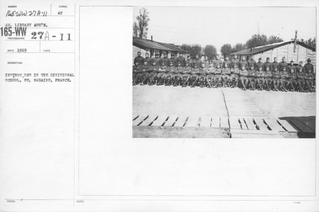 American Library Association Instruction Books - Instructors in the Divisional School, St. Nazaire, France