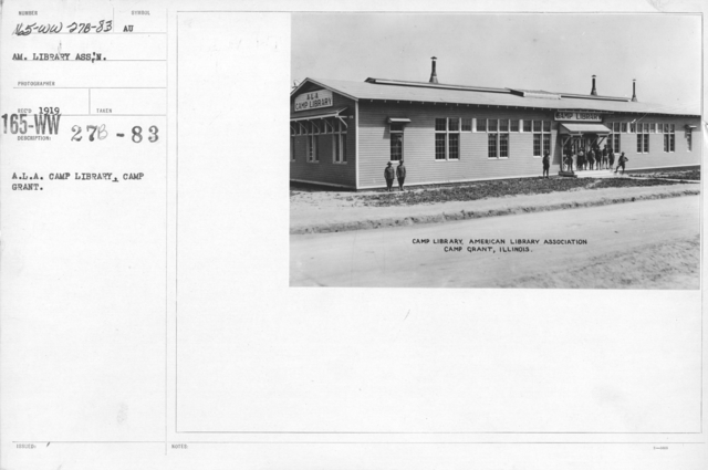 American Library Association - Libraries - Alabama through Iowa - A.L.A. Camp Library, Camp Grant