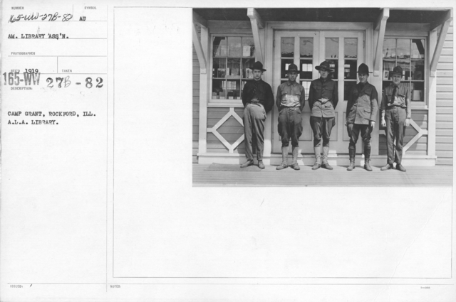 American Library Association - Libraries - Alabama through Iowa - Camp Grant, Rockford, Ill. A.L.A. Library