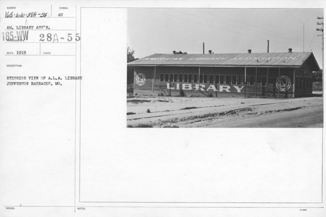 American Library Association - Libraries - Kansas through Mississippi - Exterior view of A.L.A. Library Jefferson Barracks, MO