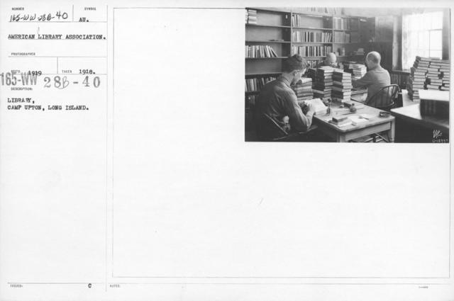 American Library Association - Libraries - New Jersey through North Carolina - Library, Camp Upton, Long Island, New York