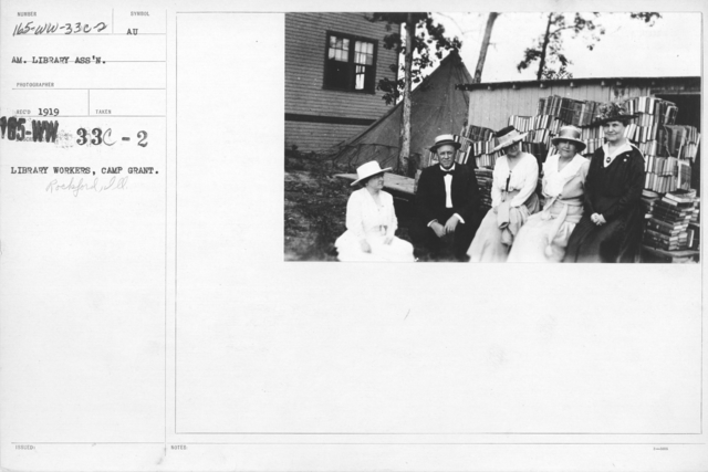 American Library Association - Library Personnel - Library workers, Camp Grant, Rockford, Ill