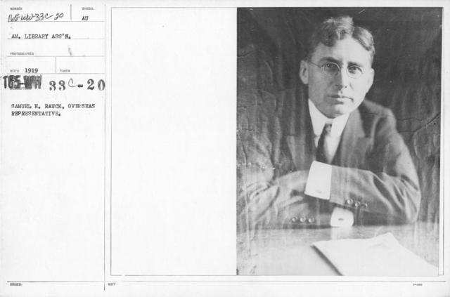 American Library Association - Library Personnel - Samuel H. Rauck, Overseas Representative