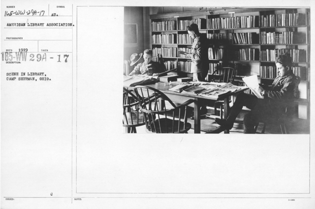 American Library Association - O through R - Scene in library, Camp Sherman, Ohio