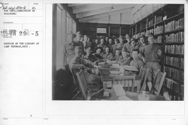 American Library Association - O through R - Section of the library at Camp Sherman, Ohio. War Dept. Commission on Training