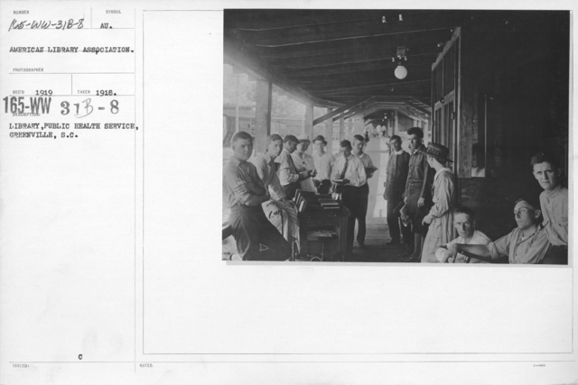 American Library Association - O thru W and Miscellaneous - Library, Public Health Service, Greenville, S.C