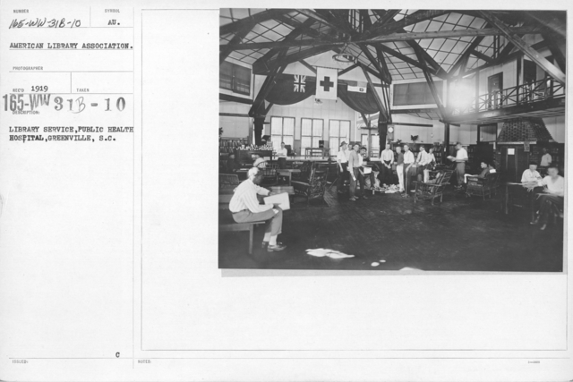 American Library Association - O thru W and Miscellaneous - Library Service, Public Health Service Hospital, Greenville, S.C