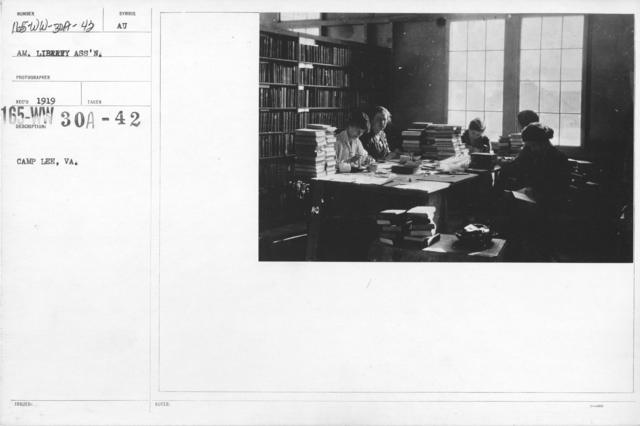 American Library Association - V&W (not in alphabetical order) - Camp Lee, VA
