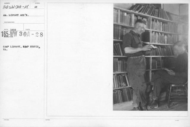 American Library Association - V&W (not in alphabetical order) - Camp Library, Eustis, VA