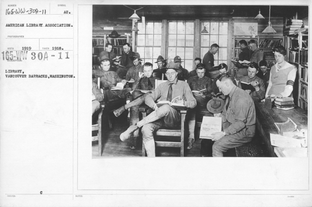 American Library Association - V&W (not in alphabetical order) - Library, Vancouver Barracks, Washington