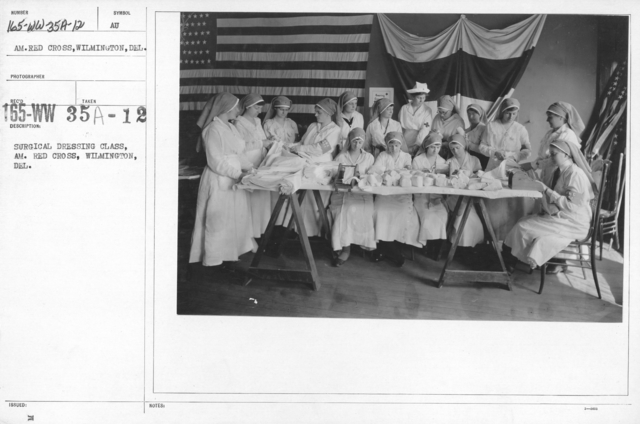 American Red Cross - Classes in Red Cross Work - Surgical Dressing Class, Am. Red Cross, Wilmington, Del