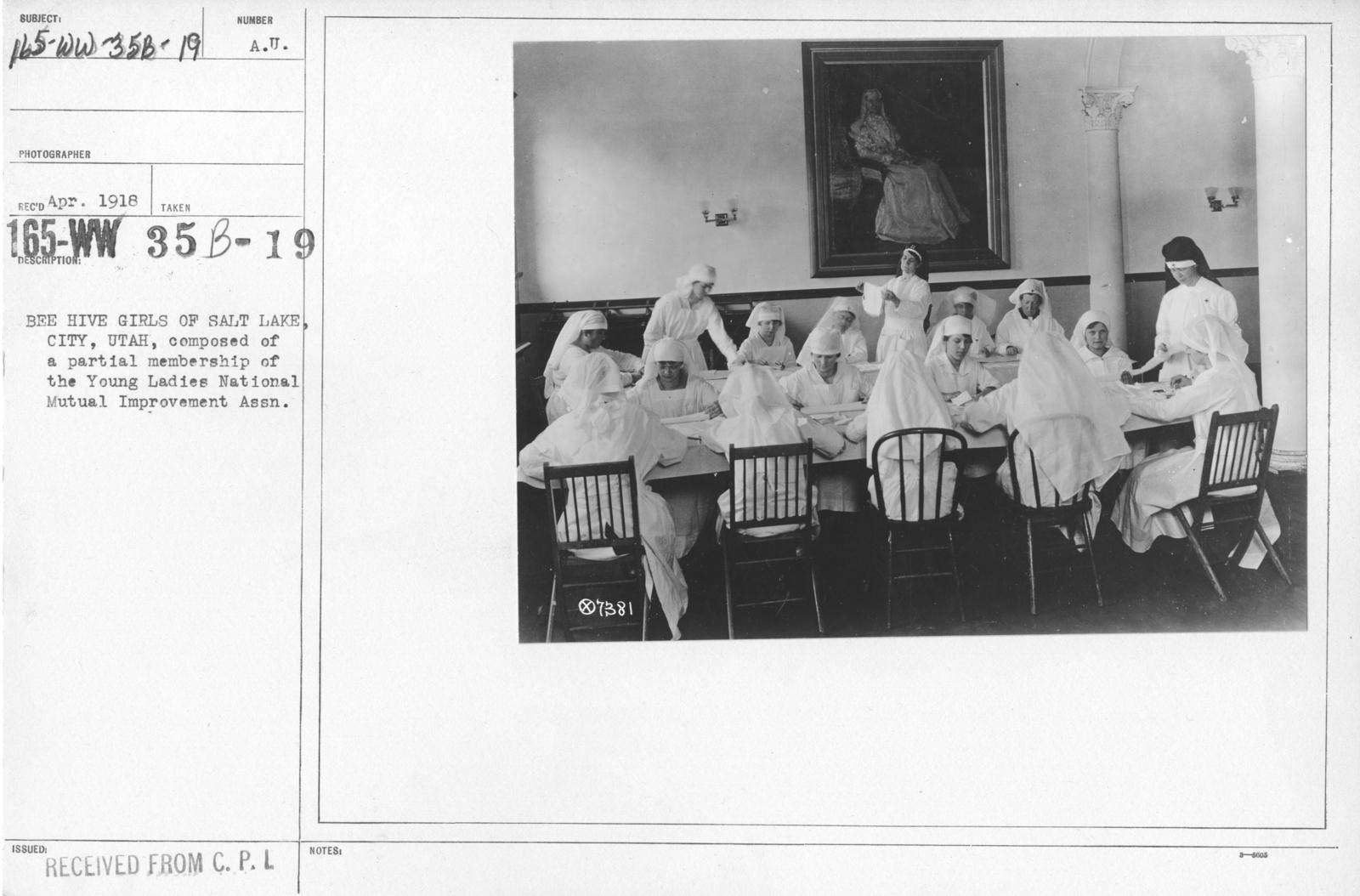 American Red Cross - Classes in Red Cross Work (workrooms