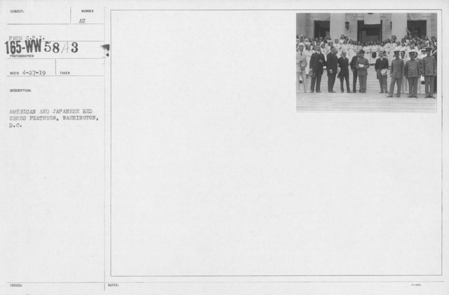 American Red Cross - Groups - American and Japanese Red Cross Features, Washington, D.C