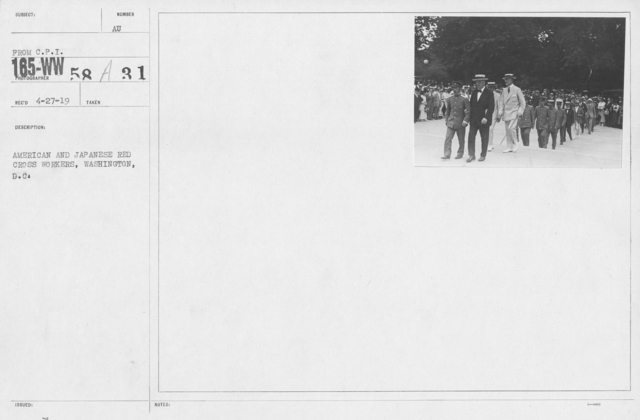 American Red Cross - Groups - American and Japanese Red Cross workers, Washington, D.C