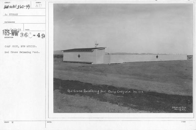 American Red Cross - Headquarters & Buildings - Camp Cody, New Mexico. Red Cross Swimming Pool