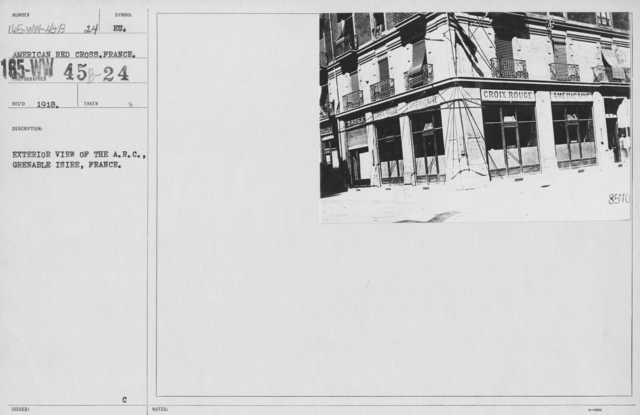 American Red Cross - Headquarters & Buildings - Exterior view of the A.R.C., Grenable Isire, France
