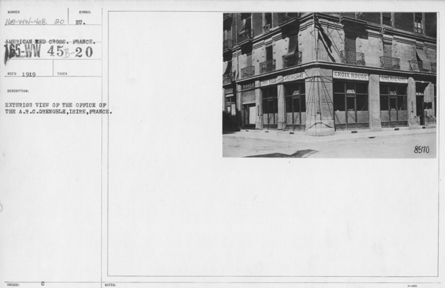 American Red Cross - Headquarters & Buildings - Exterior view of the office of the A.R.C. Grenolbe, Isire, France