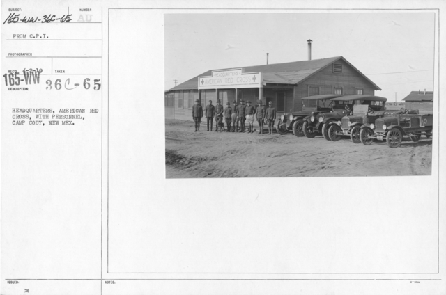 American Red Cross - Headquarters & Buildings - Headquarters, American Red Cross, with personnel, Camp Cody, New Mexico