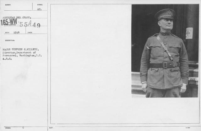 American Red Cross - I thru M - Major Stephen C. Millett, Director, Department of Personnel, Washington, D.C. A.R.C
