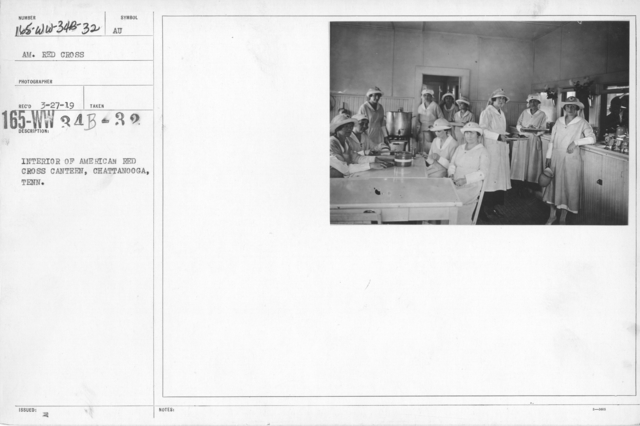 American Red Cross - In the Service of Interior - Canteen Service - Interior of American Red Cross Canteen, Chattanooga, Tenn
