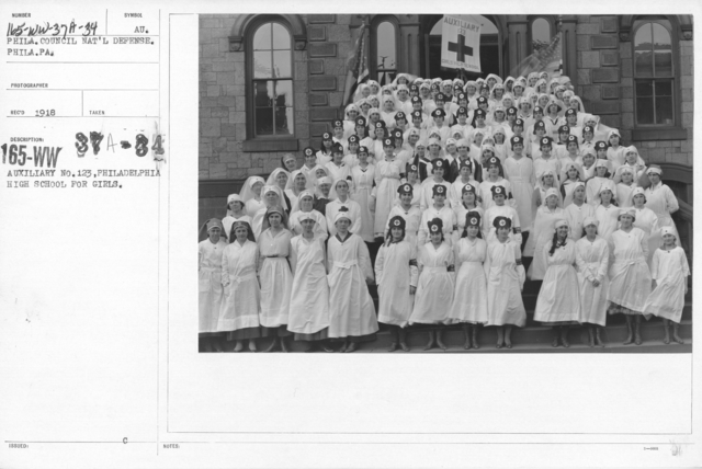 American Red Cross - Junior Red Cross - Auxiliary No. 123, Philadelphia High School for girls