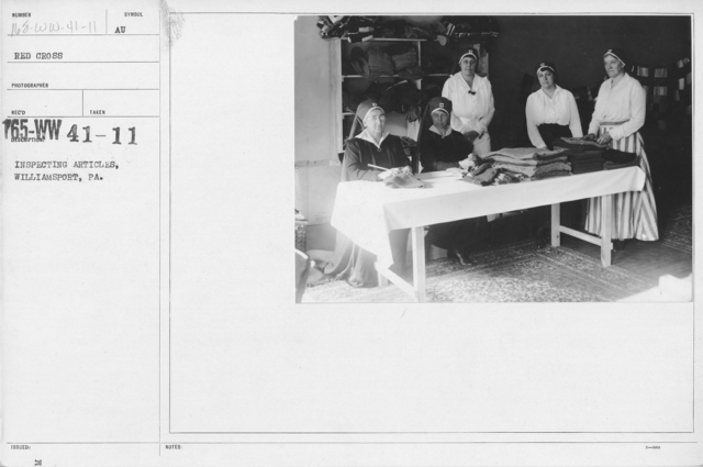 American Red Cross - Miscellaneous - Inspecting articles, Williamsport, PA