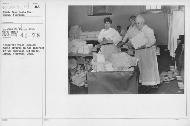 American Red Cross - Miscellaneous - Patriotic women lending their efforts in the interest of the American Red Cross, Omaha, Nebraska, 1918
