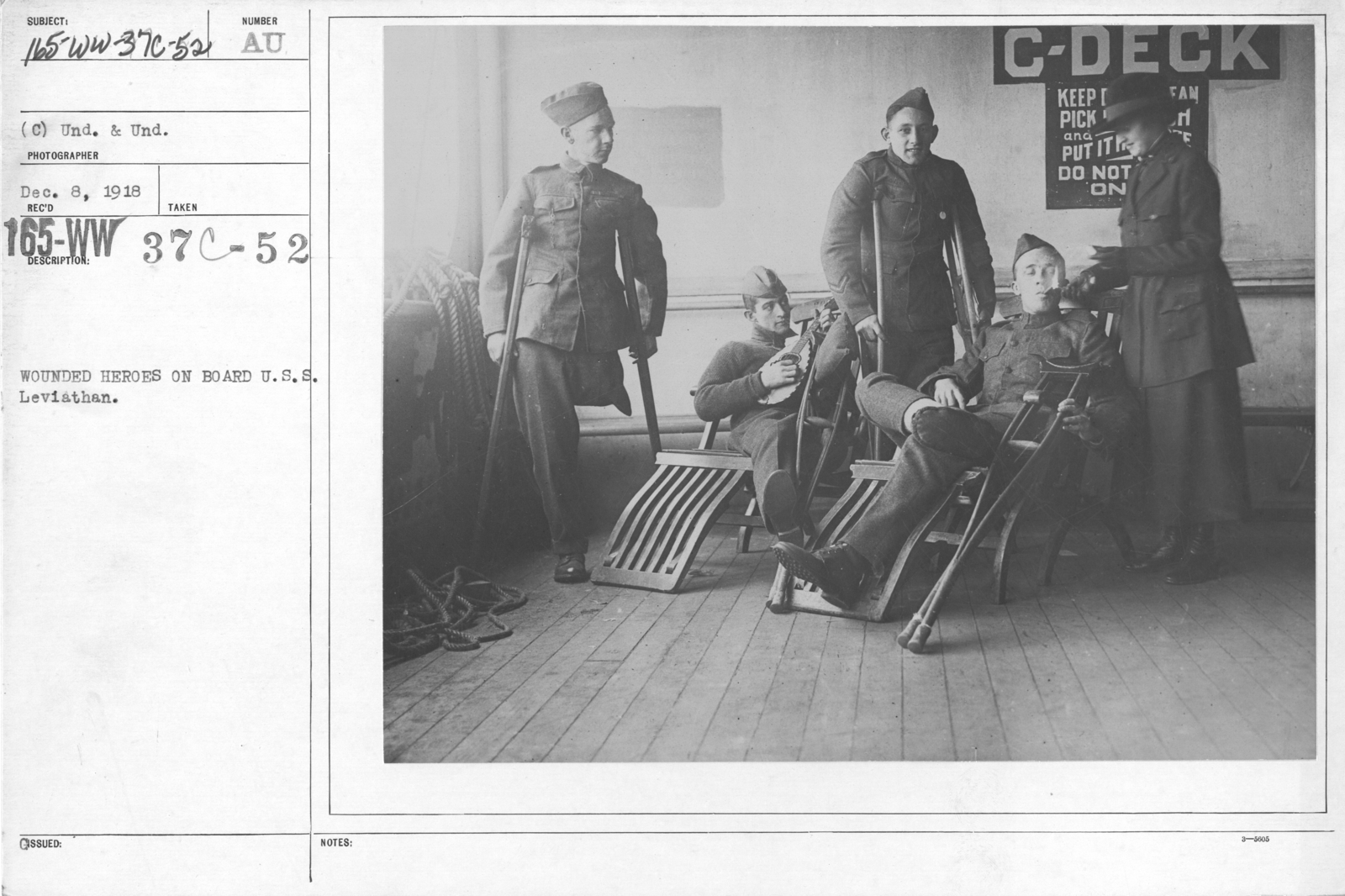 American Red Cross - Refreshments - Wounded heroes on board U.S.S. Leviathan