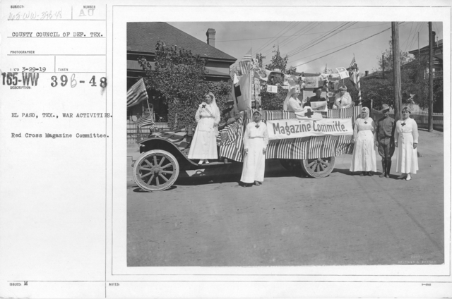 American Red Cross - Soliciting Funds - Miscellaneous - El Paso, Tex., War Activities. Red Cross Magazine Committee