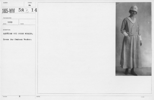 American Red Cross - Uniforms - American Red Cross worker. Dress for canteen workers