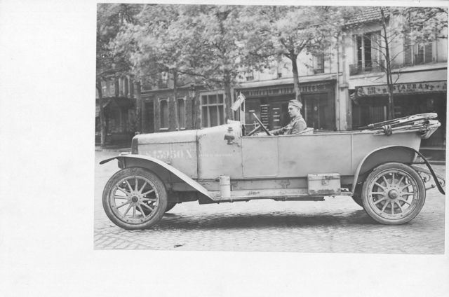 American Red Cross - Vehicles - American Red Cross Transportation Department. Charron touring car used in Paris service. Side view