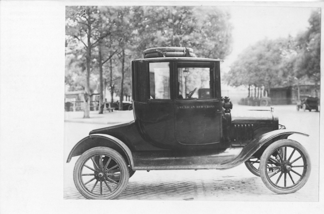 American Red Cross - Vehicles - American Red Cross Transportation Department. Ford Coupe used in Paris service