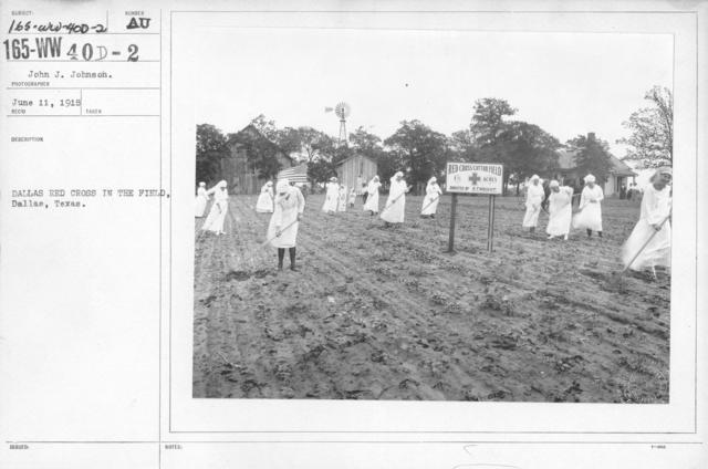 American Red Cross - War Work - Dallas Red Cross in the Field, Dallas, Texas