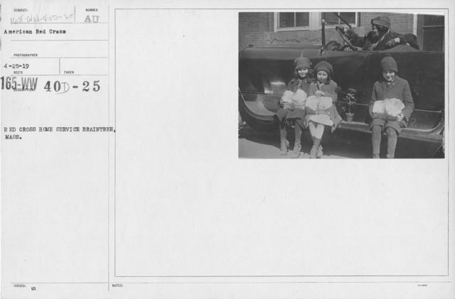 American Red Cross - War Work - Red Cross Home Service Baintree, Mass