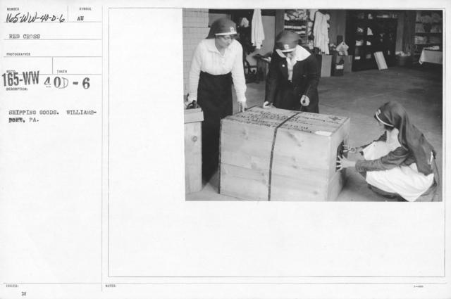 American Red Cross - War Work - Shipping goods. Williamsport, PA