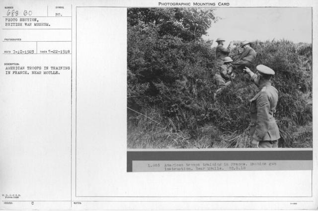 American troops in training in France. Near Moulle. 5-22-1918