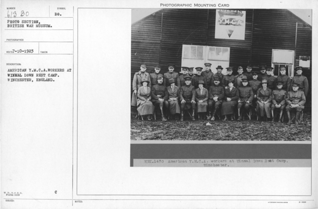 American Y.M.C.A workers at Winnal Down rest camp. Winchester, England