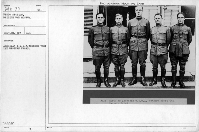 American Y.M.C.A. workers visit the Western Front