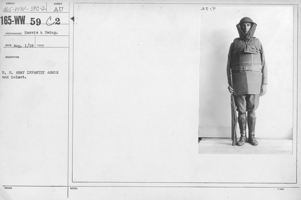 Armor - Body and Helmets - U.S. Army Infantry armor and helmet