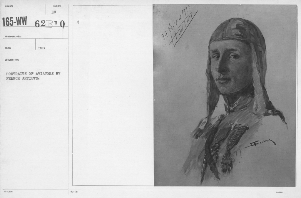 Artists - French Artworks - Portraits of Aviators by French Artists