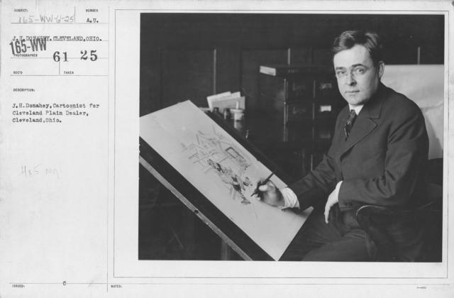 Artists - J.H. Donahey, Cartoonist for Cleveland Plain Delaer, Cleveland, Ohio
