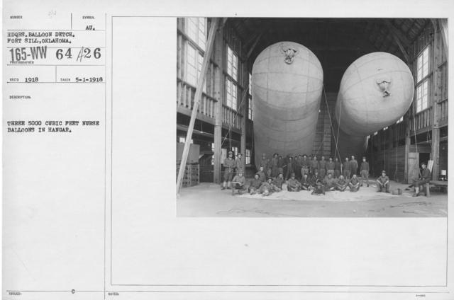 Balloons - Hangars and Beds - Three 5000 cubit feet nurse balloons in hangar