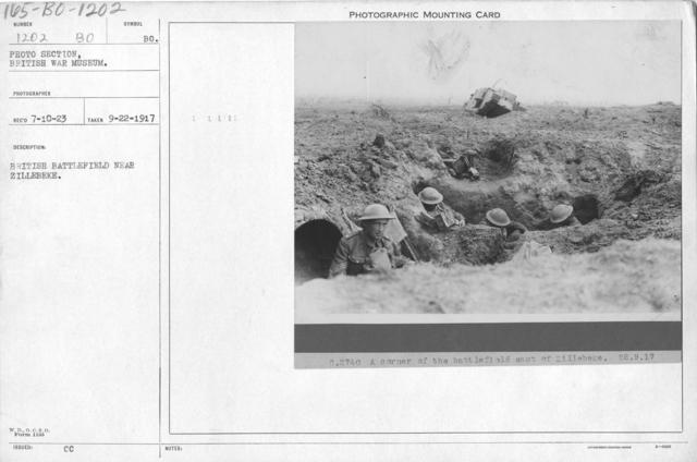 British battlefield near Zillebeke. 9-22-1917