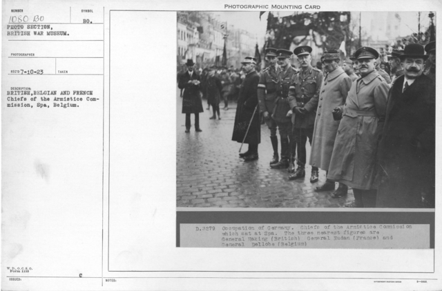 British, Belgian and French Chiefs of the Armistice Commission, Spa, Belgium