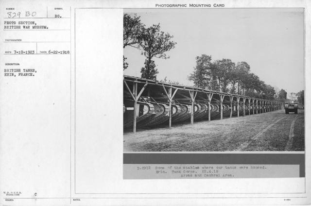 British tanks, Erin, France. 6-22-1918