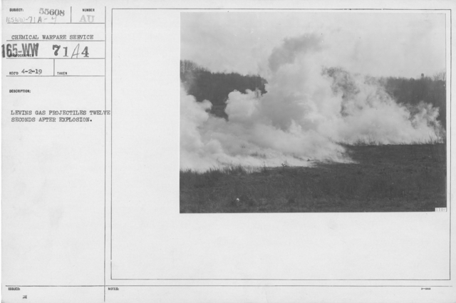 Camouflage - Smoke Screens - Levins gas projectiles twelve seconds after explosion