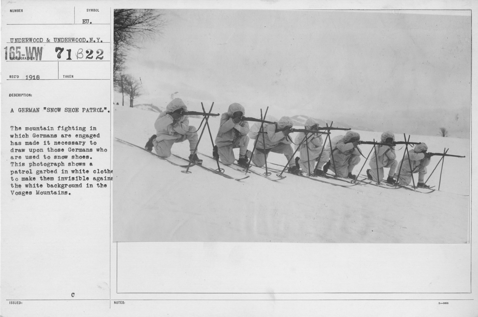 Camouflage Soldiers Training A German Snow Shoe Patrol The