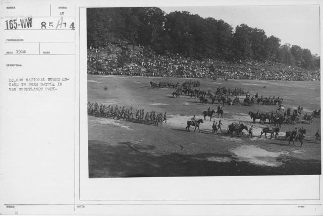Ceremonies and Parades - 10,000 National Guard engage in sham battle in Van Courtlandt Park