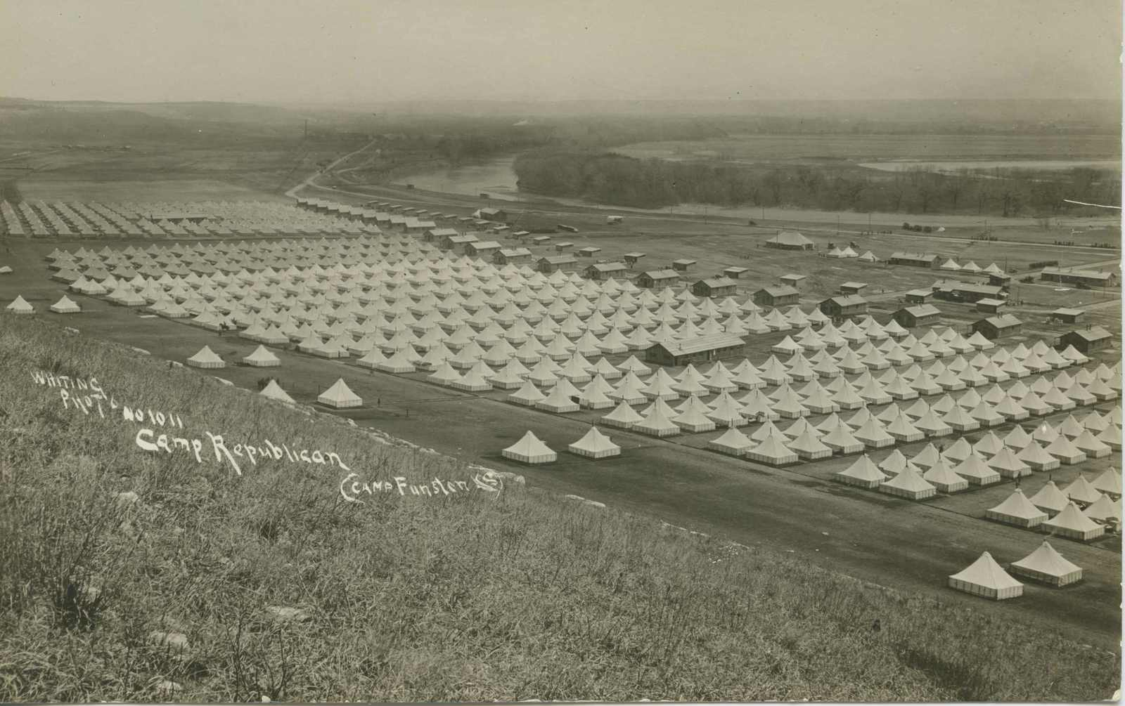 Ceremonies - Camp Funston thru Camp Lee - Camp Funston, 1918