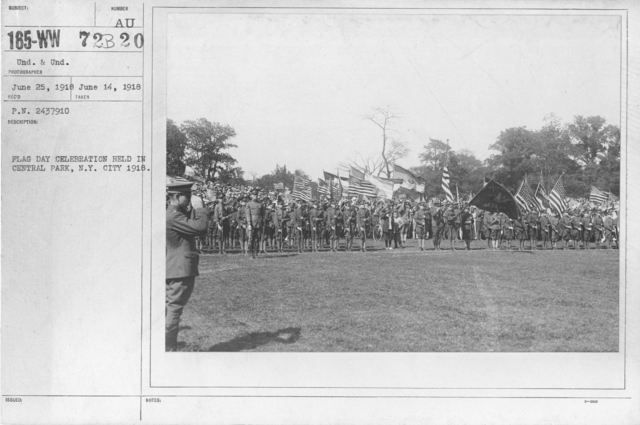 Ceremonies - Flag Day, 1918 - Flag Day celebration held in Central Park, N.Y. City 1918